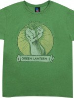 Fist Green Lantern T-Shirt by Junk Food