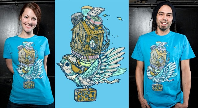 Bird Migration T-Shirt by Alex Solis