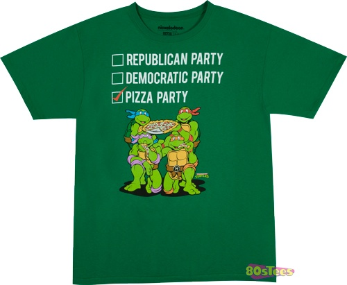 Pizza party shirt