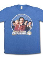 Anchorman News Team Channel 4 T-Shirt