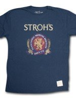 Stroh's Classic Logo Retro Vintage T-Shirt