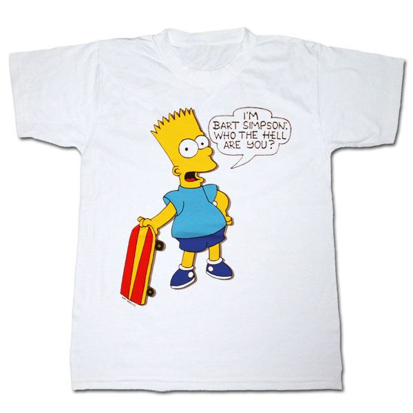 the simpsons bart who the hell are you t shirt the. Black Bedroom Furniture Sets. Home Design Ideas