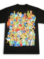 Simpsons Crowd Glowing Homer T-Shirt