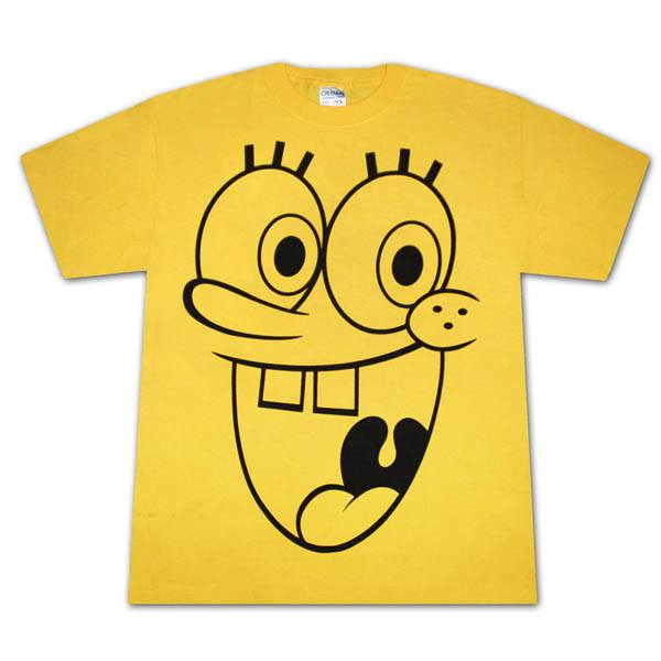 Spongebob Squarepants Huge Face T Shirt The Shirt List