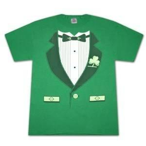 Irish Tuxedo St Patrick S Day Novelty Graphic T Shirt