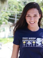 Shark Weather Forecast T-Shirt