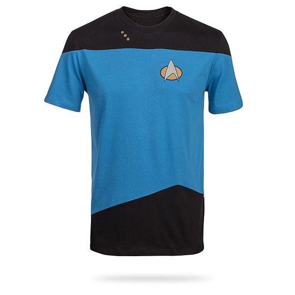 star trek tng uniform blue t shirt the shirt list. Black Bedroom Furniture Sets. Home Design Ideas