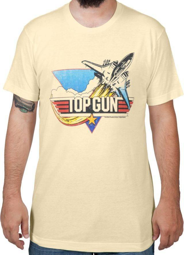 Vintage Logo Top Gun T Shirt The Shirt List
