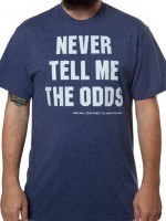 Never Tell Me The Odds Star Wars T-Shirt