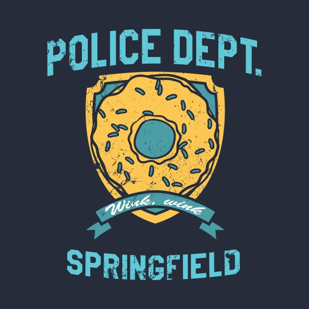 The simpsons police dept of springfield t shirt the shirt list - Police simpsons ...