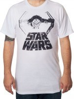 Distressed TIE Starfighter Star Wars T-Shirt
