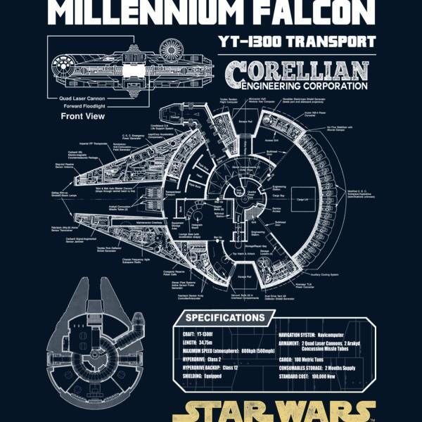 millennium falcon schematic    theshirtlist.com