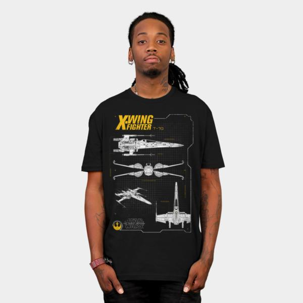 resistance x-wing schematic t-shirt - the shirt list, Wiring schematic