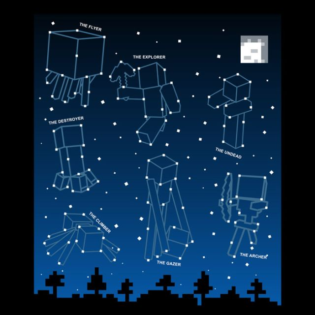 Minecraft Constellations Glow in the Dark