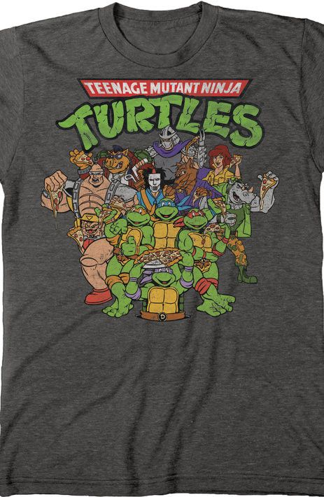 Ninja turtles cast t shirt the shirt list for Where can i buy ninja turtle shirts