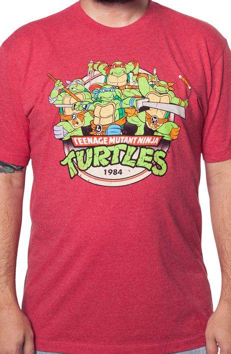 Red ninja turtles t shirt the shirt list for Where can i buy ninja turtle shirts