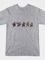 GUARDIANS OF THE GALAXY VINTAGE CARTOON Color Version T-Shirt