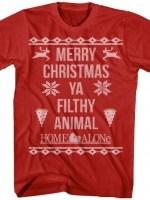 Home Alone Filthy Animal Christmas T-Shirt