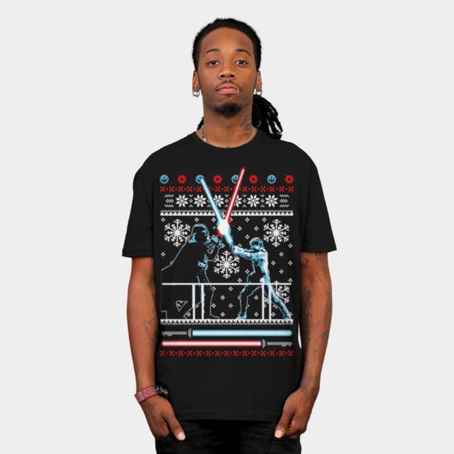 star wars christmas duel t shirt