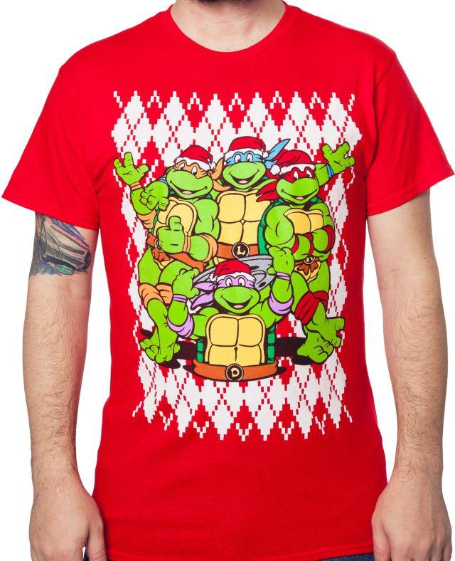 Teenage Mutant Ninja Turtles Christmas T Shirt The Shirt