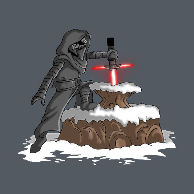 the lightsaber in the stone t shirt the shirt list