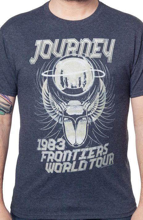 journey frontiers world tour t shirt the shirt list. Black Bedroom Furniture Sets. Home Design Ideas