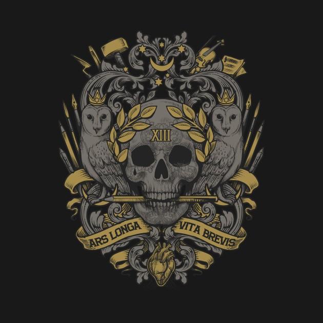 Ars longa vita brevis hippocrates t shirt the shirt list for Vita brevis ars longa tattoo