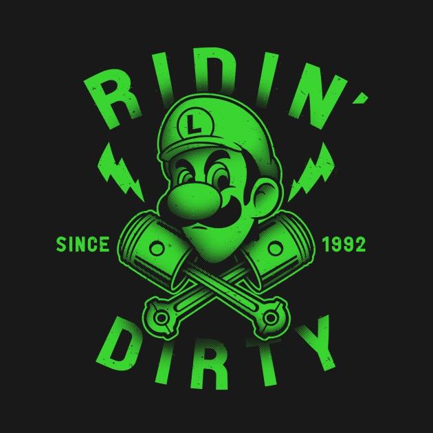 Ridin Dirty Luigi S Death Stare T Shirt The Shirt List