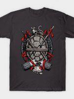 Turtle Family Crest (comic colors) T-Shirt