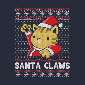 Xmas ugly sweater Cat Santa Claws