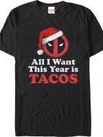 Deadpool Christmas Tacos T-Shirt