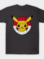 Polychu Pokemon - Polygon Stainglass Collection T-Shirt