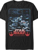 Star Wars Rogue One Blueprint T-Shirt