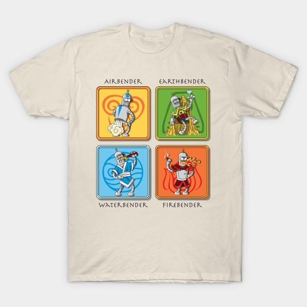 Bite My Shiny Metal Avatar Futurama Bender T Shirt The Shirt List