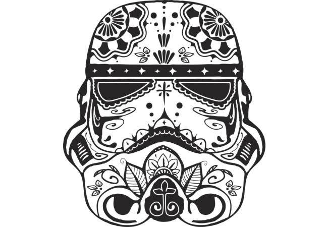 High Quality Stormtrooper Sugar Skull T Shirt
