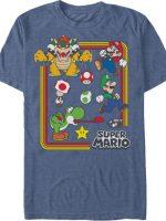 Characters Super Mario Bros T-Shirt