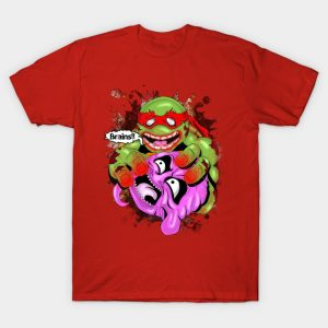 Zombie Ninja turtle eating Krang Brains