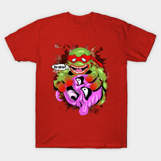 Zombie ninja turtle eating krang brains t shirt the for Where can i buy ninja turtle shirts