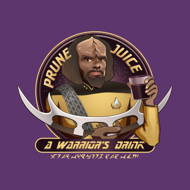 Star Trek Enterprise Worf's Prune Juice