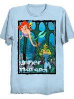 TMNT Michelangelo Ninja turtles Ariel Little Mermaid under the sea T-Shirt