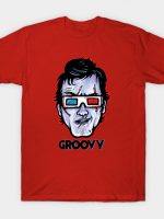 Groovy 3D... Evil Dead Ash Williams Wearing 3D Glasses T-Shirt