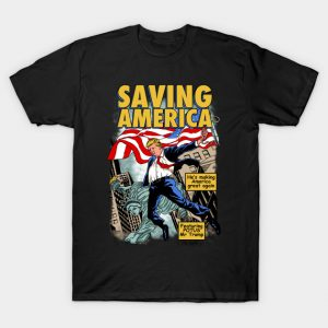 President Donald Trump Saving America Comic