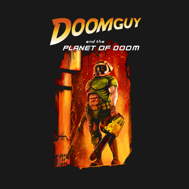 Doomguy in the planet of doom
