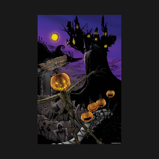 Christmas Halloween.Halloween Town Nightmare Before Christmas T Shirt The