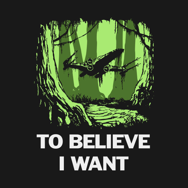 To believe I want