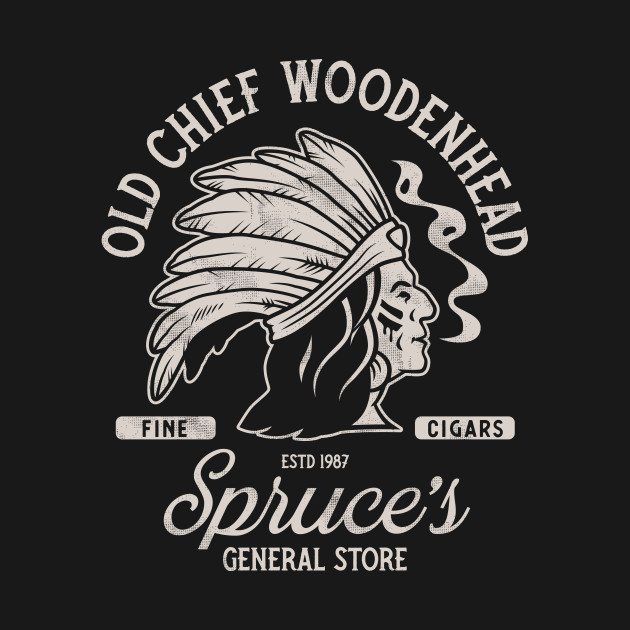 Old Chief Woodenhead Black & White