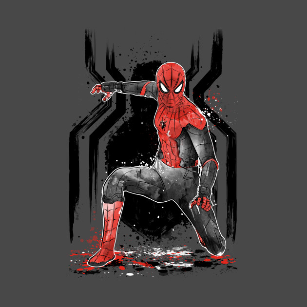 BLACK AND RED Spider Suit