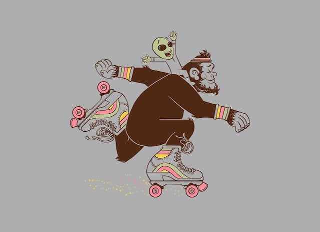 Bigfoot on roller skates