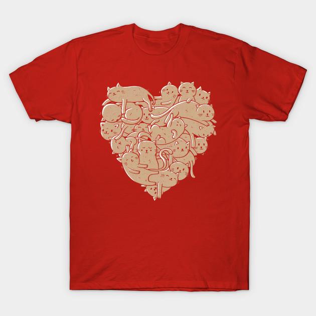 I Love Cats Heart T-Shirt