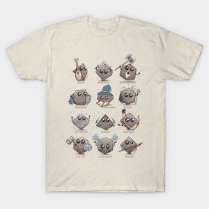 Kawaii DnD Classes T-Shirt